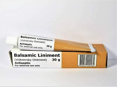 Balsamic Liniment *Vishnevsky Ointment* Helps for Ulcers Bedsores Burns Acne 30g