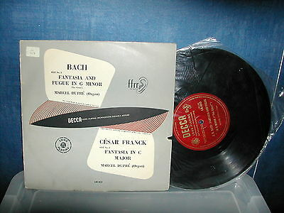 """LM 4513 Bach fantasia and fugue in G minor Dupre 10"""" LP ED1"""