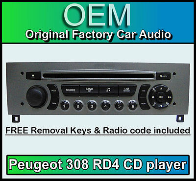 peugeot 807 car stereo cd player peugeot rd3 radio free vin code and keys eur 68 00. Black Bedroom Furniture Sets. Home Design Ideas
