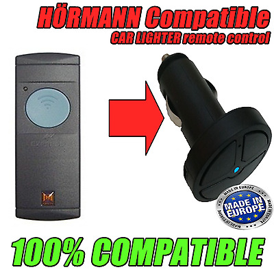 Hormann HSE2 Compatible Garage Remote Control for Car Lighter Socket 433 & 868mh