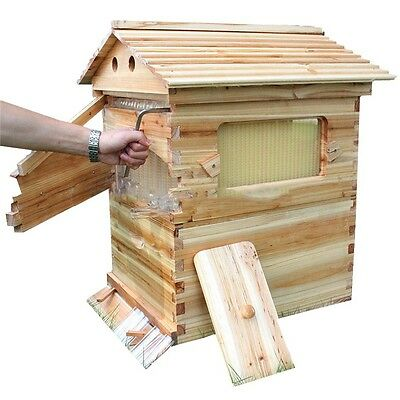 Beekeeping Supplies Complete Flow Hive 7pc Frames Box Auto Honey Harvesting