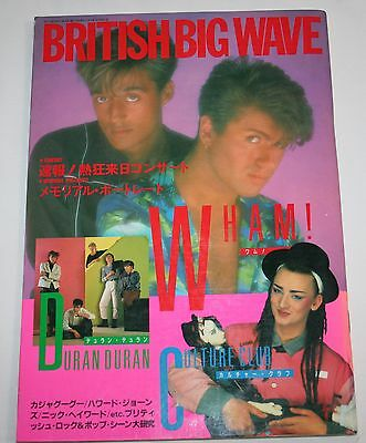 British Big Wave Wham! Duran Duran Culture Club PHOTO BOOK JAPAN 1985
