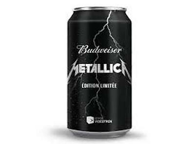 METALLICA BEER UNOPENED CAN  355ml  BUDWEISER SPECIAL EDITION NEW VERY RARE