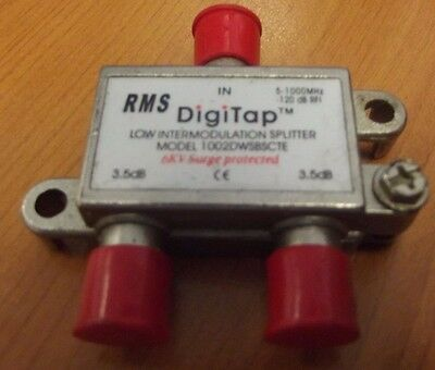 Low Intermodulation Splitter RMS model 1002DWSBSCTE