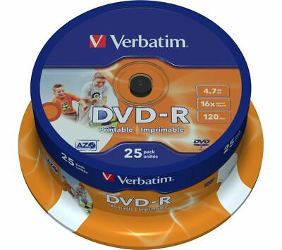 photograph about Printable Dvds titled VERBATIM DVD-R 16X Picture Printable DVDs - 25 Pack