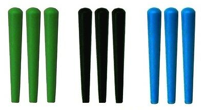 NEW Set of 9 Plastic Cribbage Pegs  - Standard Size in Green - Black - Blue