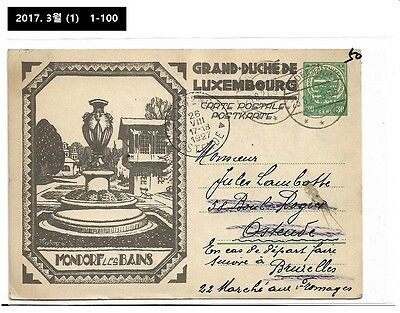 AAA,Thematic,Illustrated Stationery,Postal Card,PSC,Luxembourg 1927,Tourism
