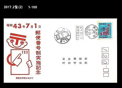 AAA, Postman,Postal Code Campaign,Japan 1968 FDC,Cover
