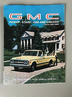 Vintage GMC Pickup Truck Brochure Series 1500 - 3500 Stake Cab Chassis