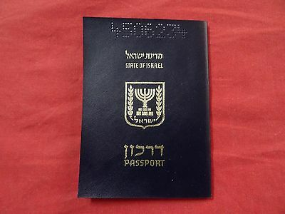 Israel Collectible Expired Cancelled Soft Cover Passport Reiner  + Stamps 1990