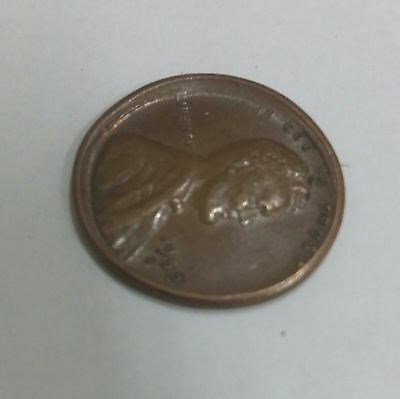 1952 s American Lincoln 1 cent Broad Strike out of Collar wheat penny error coin