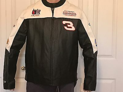 Dale Earnhardt Sr Wilsons Leather NASCAR GM Goodwrench Jacket Size Large