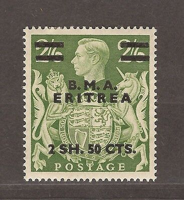 1939 To 1948 Occupation Of Bma Eritrea Overprints 2 Shillings 50 Cts Stamp Mh