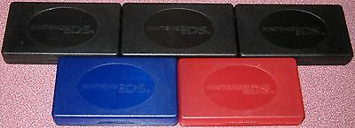 5 Nintendo DS PLASTIC STORAGE CASES for Games..Will hold 20 Total..FREE SHIP!
