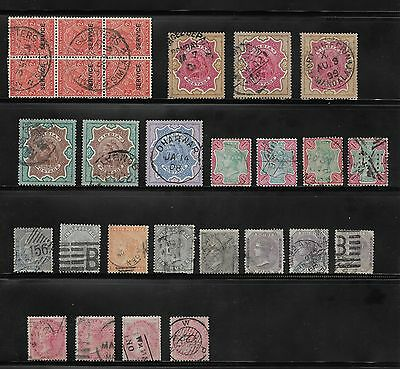Queen Victoria  Collection Of India  Stamps Used - High Values