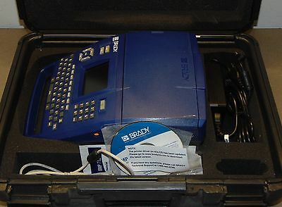 Brady BMP71 portable label thermal printer with hard carrying case