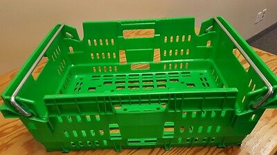 Stackable green totes, 24 x 16 x 81/4