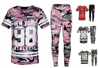 Girls Hooded Striped NEW YORK Brooklyn 76 Set Kids Clothes Outfit Age 7-13 Year