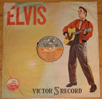 """Elvis 78rpm """"Love Me Tender"""" 1956 Japan issue with M- disc & Picture Sleeve"""