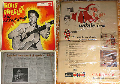 "Elvis ""King Of Rock'n'Roll"" 1st pressing Italy 1956 EP  w/ 1956 Publication"