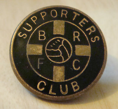 BERWICK RANGERS Vintage SUPPORTERS CLUB badge Brooch pin Gilt 23mm x 23mm