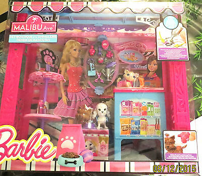 NRFB BARBIE Animalerie/Pet boutique magasin MALIBU Ave chat/chien CCL73 + cadeau