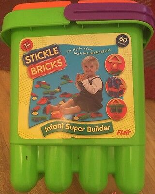 Stickle bricks / Sticklebricks 2003 Hasbro Complete Flair Construction Toy Tub