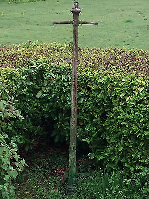 Original Victorian cast iron lamp post