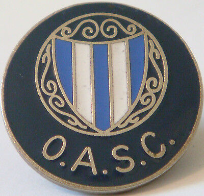 OLDHAM ATHLETIC FC Rare vintage SUPPORTERS CLUB badge Brooch pin 25mm Dia