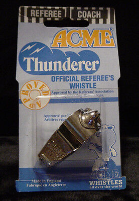 Brass ACME THUNDERER WHISTLE NIP No. 60 1/2 Referee Soccer Coach Training Safety