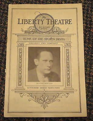 "c1920s Lincoln Nebraska Liberty Theatre brochure - ""Seventh Heaven"" playing"
