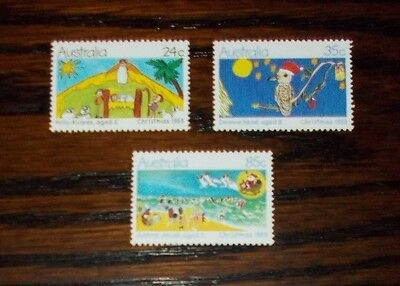 Australia Mint Stamps Christmas Childrens Paintings 1983