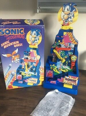 Sonic The Hedgehog - Sonic Mountain Quest Tomy Vintage Game - Complete