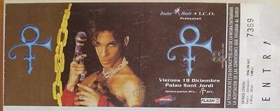 Prince : Ticket Original   !!!!!! (Barcelona 1998) Spain