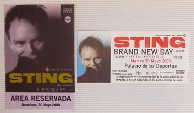 Sting : Ticket Original + Pase Vip  !!!!!! (Barcelona 2000) Spain
