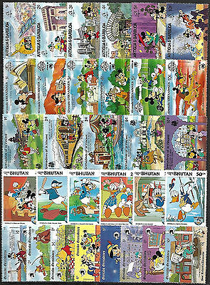 WALT DISNEY CARTOON - 30 Different Stamps **MNH** (Lot 7) + FREE SHIPPING !!!