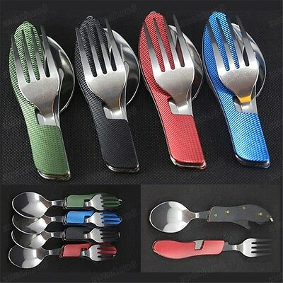 3-in-1 Spork /Spoon /Fork Cutlery Outdoor Camping Hiking Picnic Travel UK