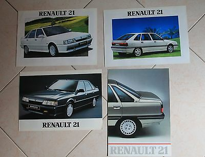 Lotto 4x Renault 21 Catalogo - Brochure - Depliant