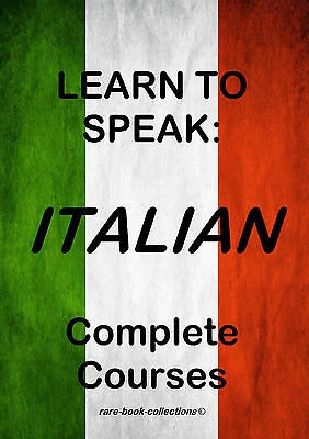 Learn To Speak Italian - Language Course - 8 Books & 37 Hrs Audio Mp3 All On Dvd