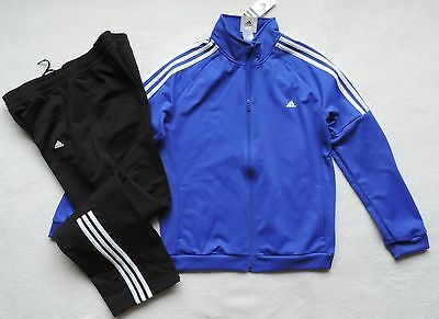 NEW Adidas Trening Tracksuit 2 Pieces Set, Blue, Size: L (16/18)