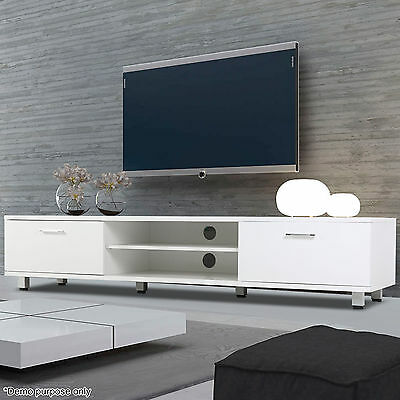 New Modern High Gloss TV Unit Cabinet Stand Media Video Lowboard Sideboard White