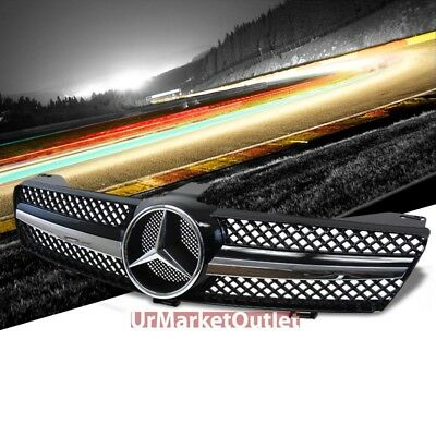 Front Black Mesh Chrome Fin AMG Style Grille Grill for Benz 06 07 08 W219 CLS
