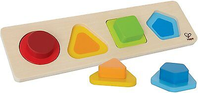 Hape First Shapes Toddler Wooden Learning Puzzle (with defect, read description)