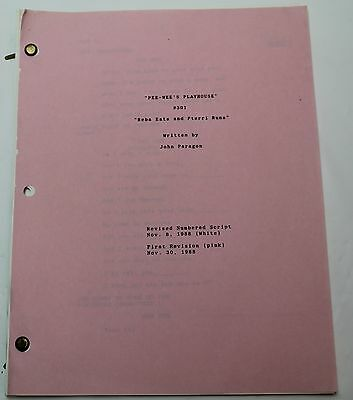 Pee Wee's Playhouse * 1988 Original Pee Wee Herman TV Show Script 3rd Season
