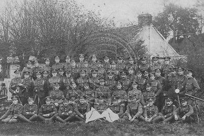 Soldiers In The 13th London Regiment (Kensingtons) Photo 6x4