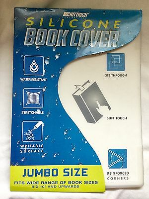 "Kittrich Silicone Book Cover Jumbo Size Fits Books 8"" x 10"" & Up - Clear"
