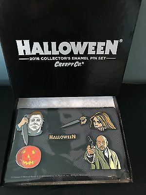 Creepy Company Halloween Limited Edition Enamel Pin Set Michael Myers/Loomis