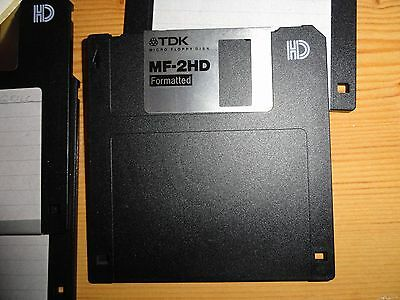 "3.5"" 1.44MB formatted HD floppy disks  Full format checked. New with lable TDK"