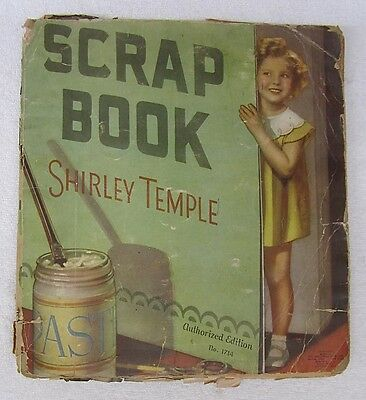Vtg 1935 SCRAPBOOK SHIRLEY TEMPLE 24 Pgs & DIONNE QUINTS 21 Pgs + 40 Loose Clips