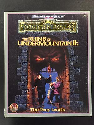 The Ruins of Undermountain II: The Deep Levels Forgotten Realms AD&D 2nd ed.